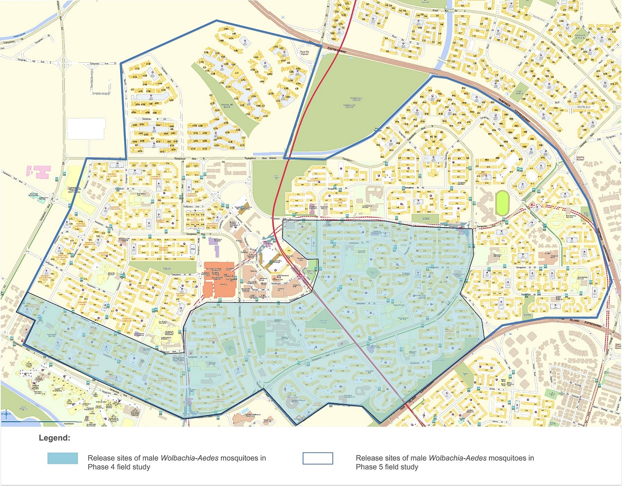 Location Maps of Study Sites for Phase 5 - Tampines