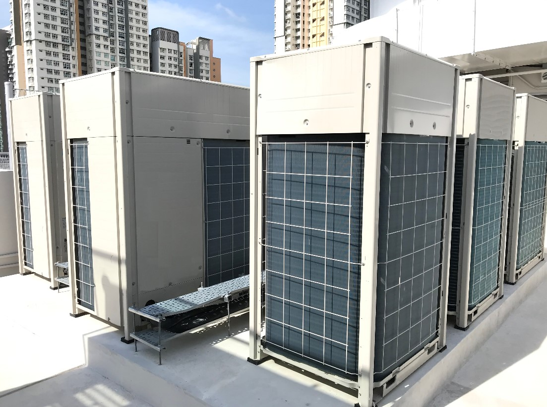 VRF air-conditioners installed for an office building